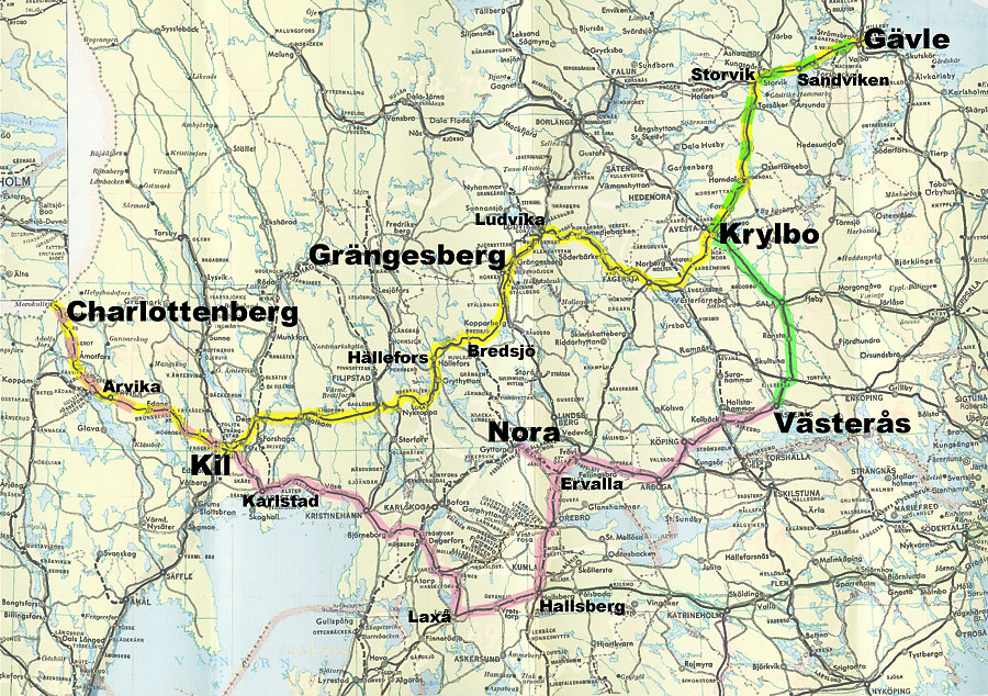 tog sverige kart Railway website by Svein Sando :: Järnvägen 150 år 2006 tog sverige kart